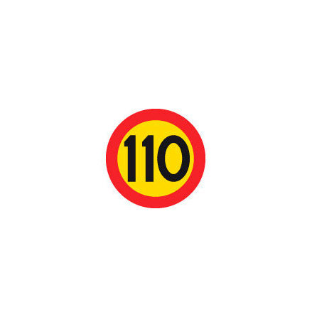 Hastighetsbegränsning 110 kmh