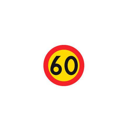 Hastighetsbegränsning 60 kmh