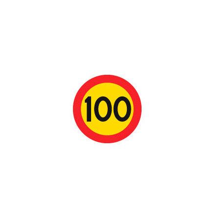 Hastighetsbegränsning 100 kmh