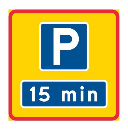 Områdesmärke - parkering